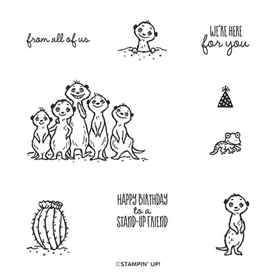 The Gang's All Meer Cling Stamp Set (English)