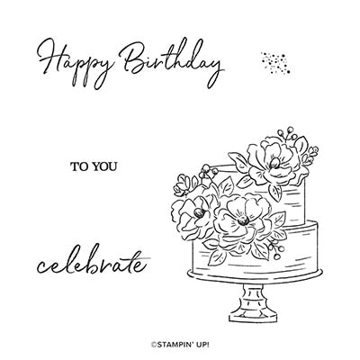 Happy Birthday To You Cling Stamp Set (English)