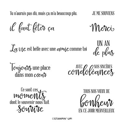 Moments De Plénitude Cling Stamp Set (French)
