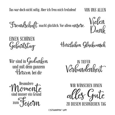 Besondere Momente Cling Stamp Set (German)
