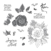 Rose De Noël Stamp Set (French)