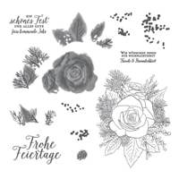 Festtagsrose Stamp Set (German)