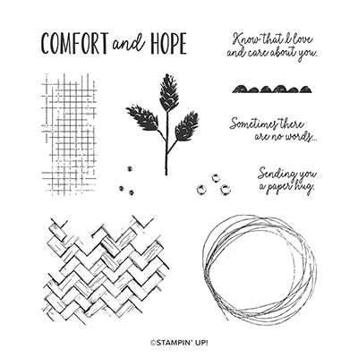 Comfort & Hope Cling Stamp Set (En)