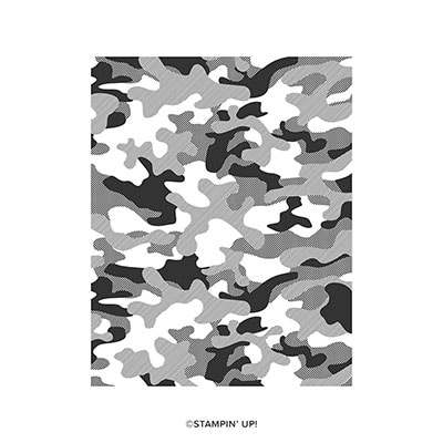 Camouflage Cling Background Stamp