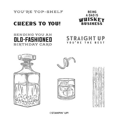 Whiskey Business Cling Stamp Set (English)