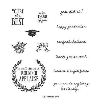 Round Of Applause Cling Stamp Set
