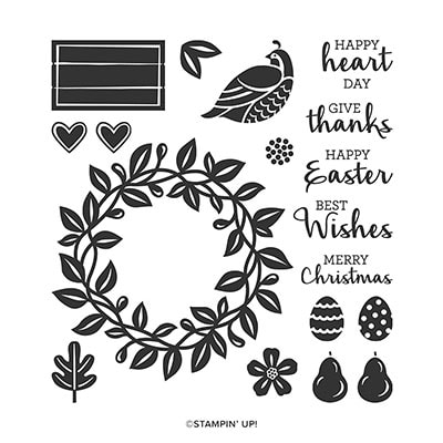 Arrange A Wreath Photopolymer Stamp Set (English)