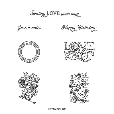 Posted For You Cling Stamp Set