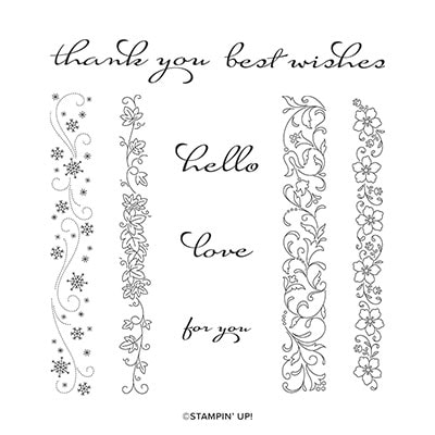 Borders Abound Cling Stamp Set