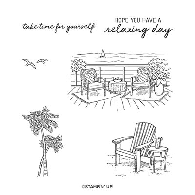 Seaside View Cling Stamp Set