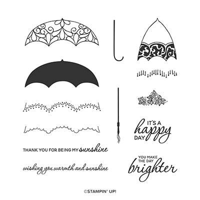 Pretty Parasol Photopolymer Stamp Set