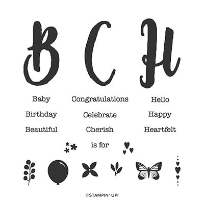 Monogram Messages Cling Stamp Set