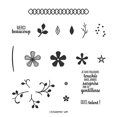 Fleurs Attentionnées Photopolymer Stamp Set (French)