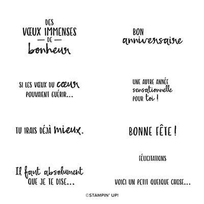 Pensées Pour Toi Cling Stamp Set (French)