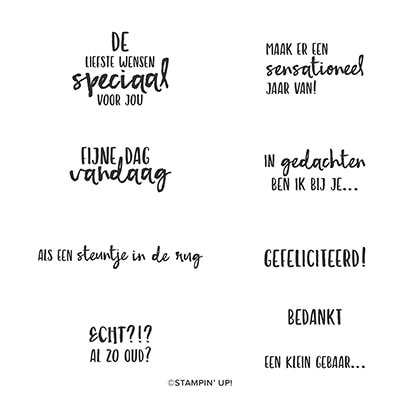Speciaal Voor Jou Cling Stamp Set (Dutch)