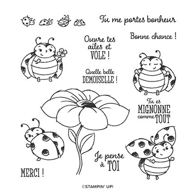 Petite Coccinelle Host Cling Stamp Set (French)