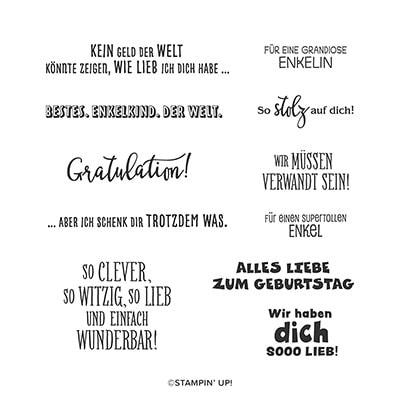 Beste Enkelkinder Cling Stamp Set (German)