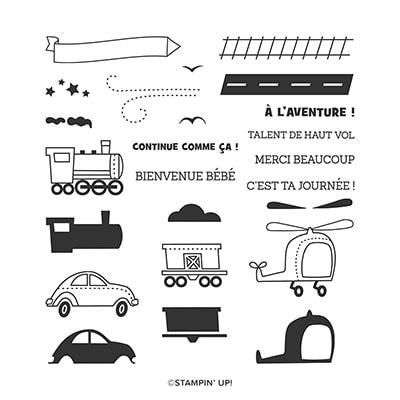 Joyeuse Excursion Photopolymer Stamp Set (French)