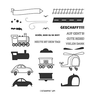 Gute Reise Photopolymer Stamp Set (De)