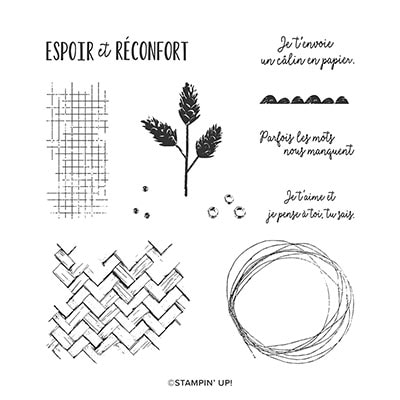 Espoir Et Réconfort Cling Stamp Set (French)