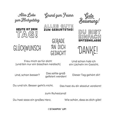Prima Pãrchen Cling Stamp Set (German)