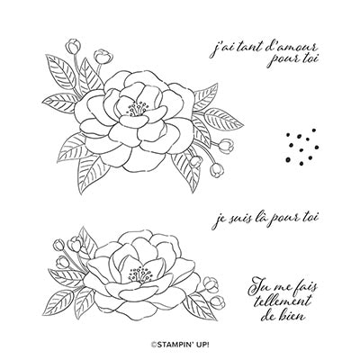 Tant D'amour Cling Stamp Set (French)