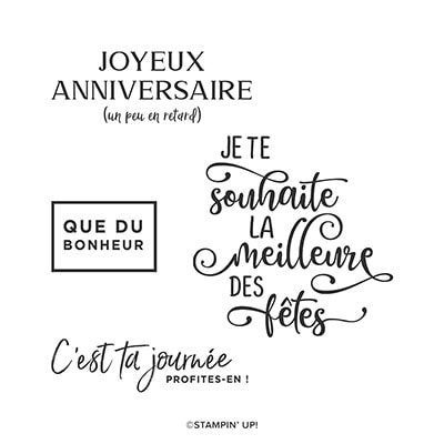 Occasion De Célébrer Cling Stamp Set (French)