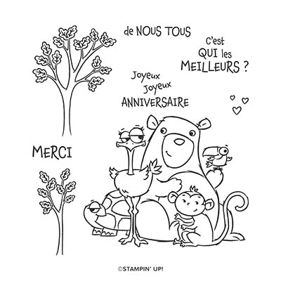 De Nous Tous Cling Stamp Set (French)