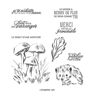 Promenade Boisée Cling Stamp Set (French)