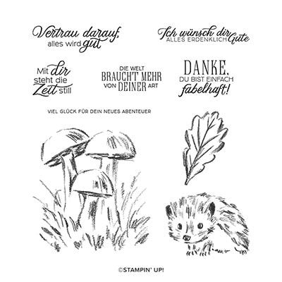 Waldspaziergang Cling Stamp Set (De)