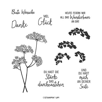 Wiesenglück Photopolymer Stamp Set (De)