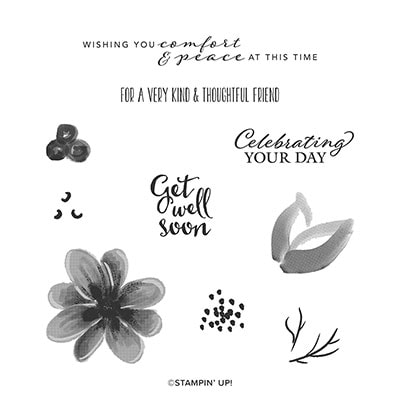 Gorgeous Posies Cling Stamp Set (En)