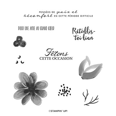 Bouquet Magnifique Cling Stamp Set (Fr)
