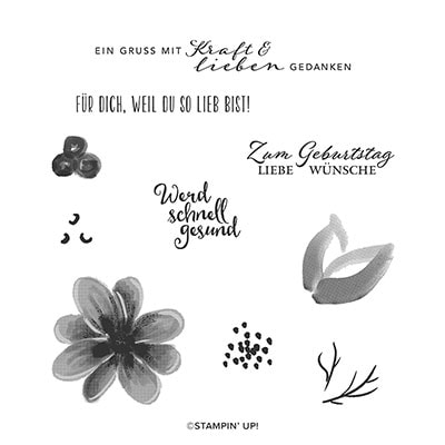 Traumblüten Cling Stamp Set (De)