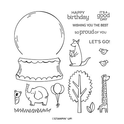 Zoo Globe Photopolymer Stamp Set