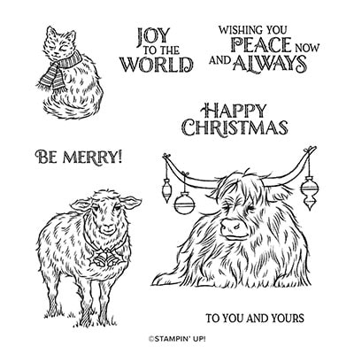 Yuletide Pasture Cling Stamp Set (English)