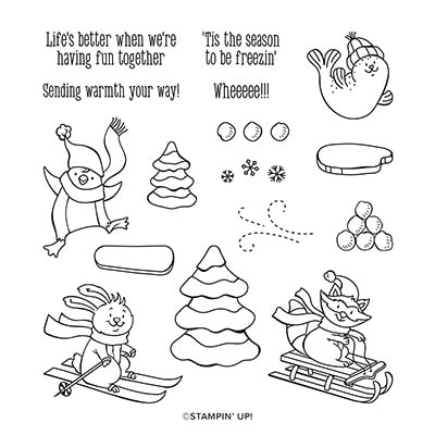Freezin' Fun Cling Stamp Set (English)