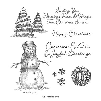 Snow Wonder Cling Stamp Set