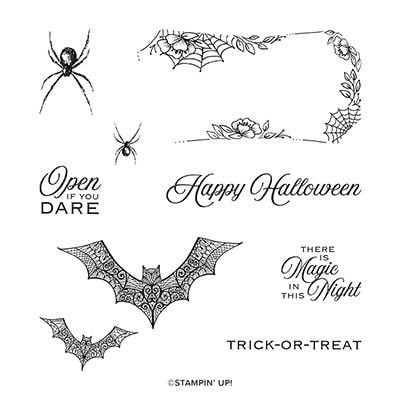 Hallows Night Magic Cling Stamp Set