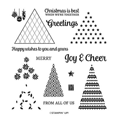 Tree Angle Photopolymer Stamp Set