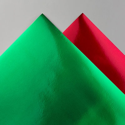 Red & Green Foil Sheets