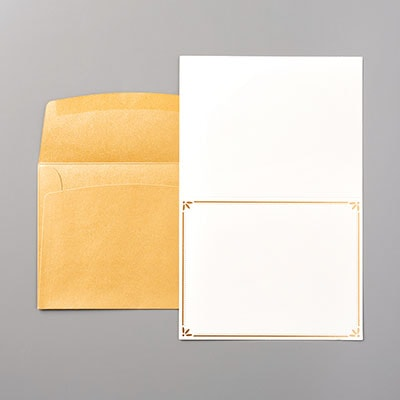 Gold Cards & Envelopes