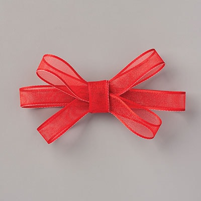 "真红3/8"" (1 Cm) Sheer Ribbon"