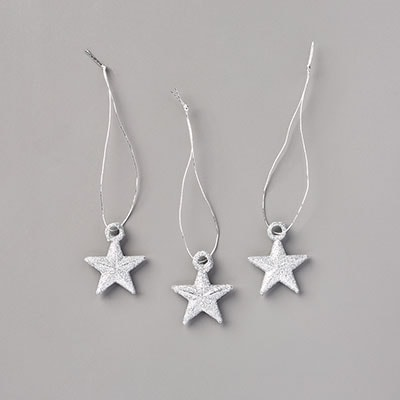 Glitter Star Ornaments