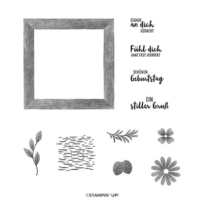 Eingerahmt Cling Stamp Set (De)