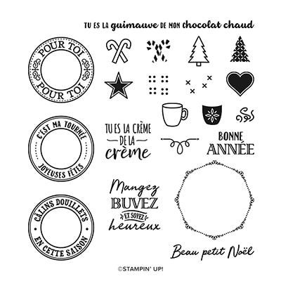 Câlins Douillets Photopolymer Stamp Set (French)