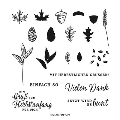 Schöner Herbst Photopolymer Stamp Set (German)
