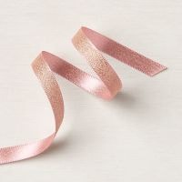 "3/8"" (1 Cm) Blushing Bride Metallic Ribbon"