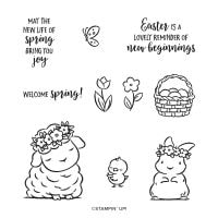 Springtime Joy Cling Stamp Set