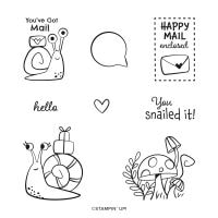 Snailed It Cling Stamp Set